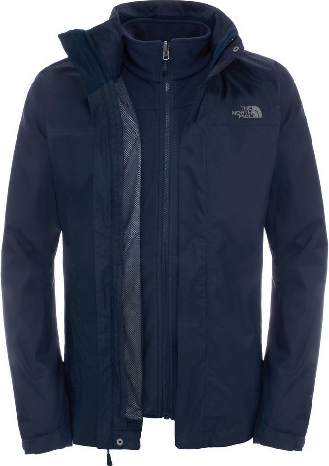 The North Face Outdoorjacke »Evolve II Triclimate Jacket Men« in blau
