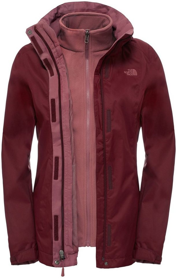 The North Face Outdoorjacke »Evolve II Triclimate Jacket Women« in rot