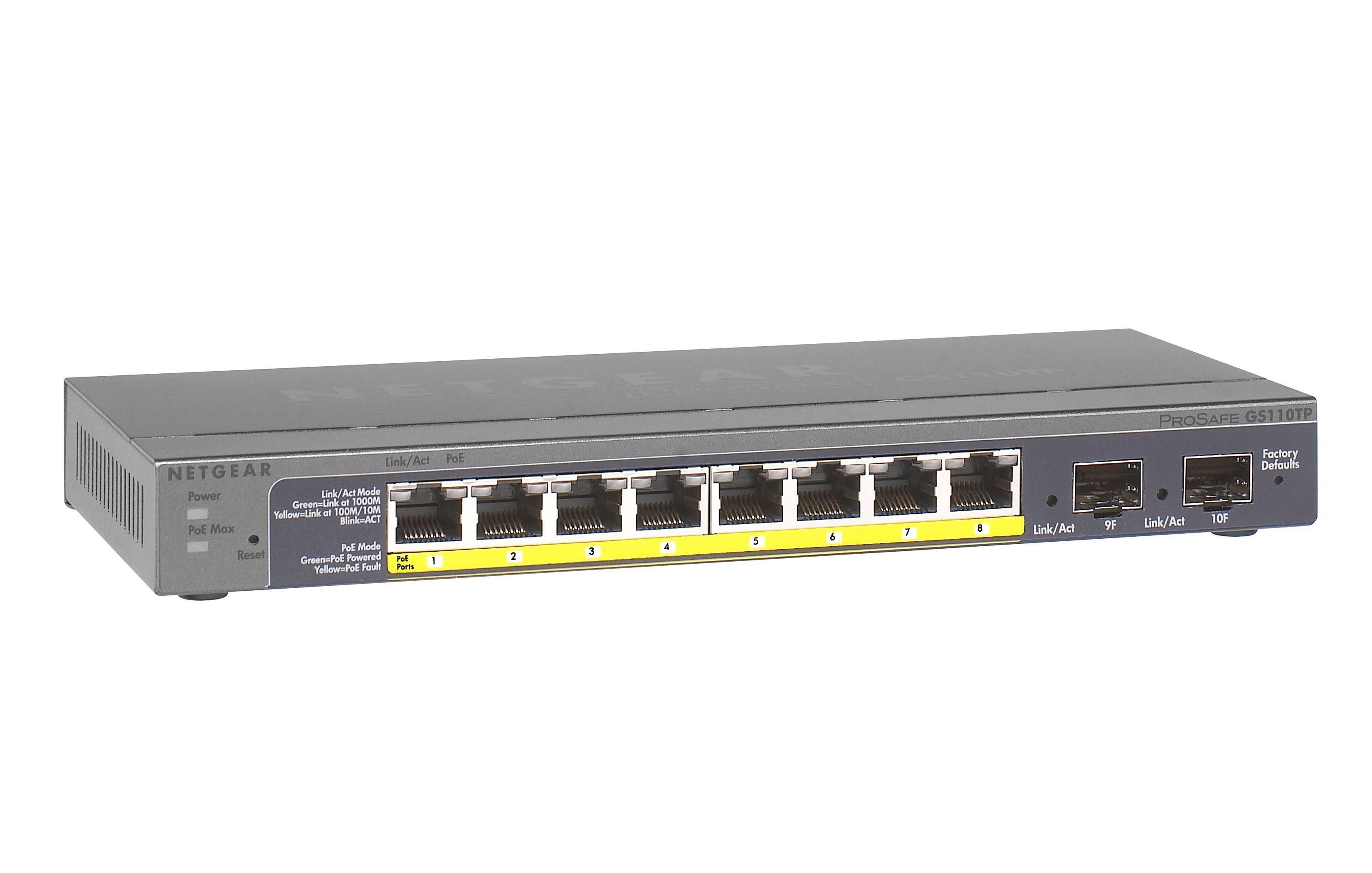 Netgear Switch »8-Port GB Smart Switch m. PoE «