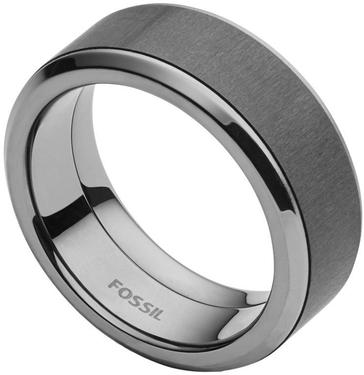 Fossil Ring mit Carbon, »Mens Dress, JF02368793« in schwarz