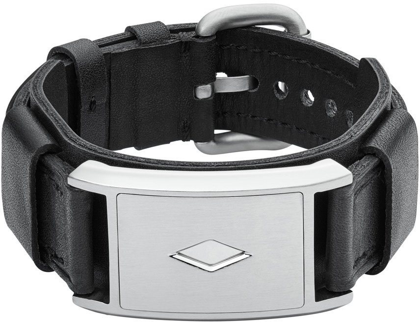 Fossil Armband, »Mens Dress, JF02367040« in silberfarben-schwarz