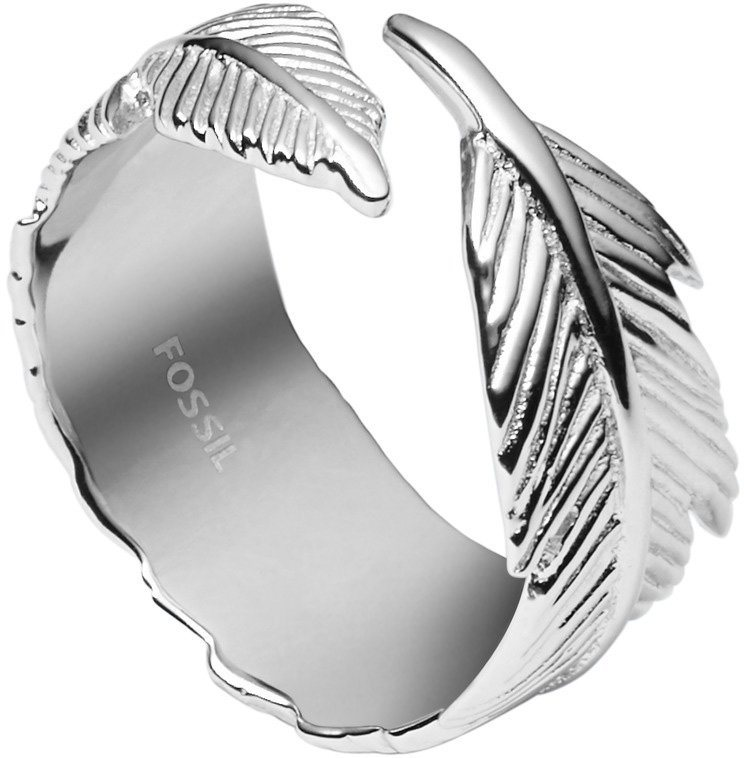 Fossil Ring, »Feder, Sterling Silver, JFS00408040« in Silber 925