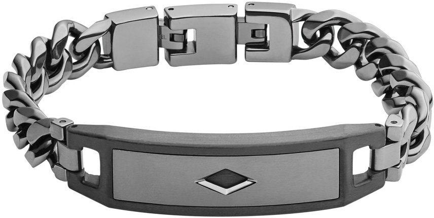Fossil Armband mit Carbon, »Mens Dress, JF02366793« in grau-schwarz