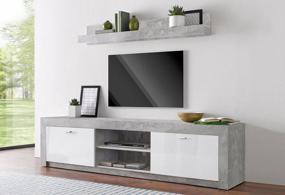 lowboard mit 1 wandregal online kaufen otto. Black Bedroom Furniture Sets. Home Design Ideas