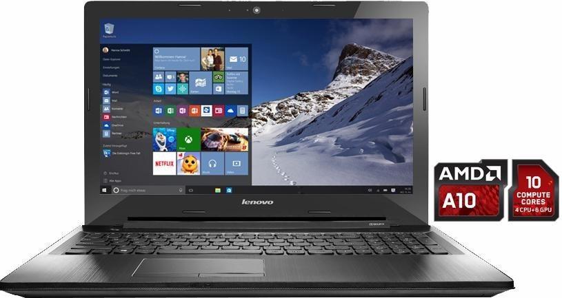 Lenovo Z50-75 Notebook, AMD A10, 39,6 cm (15,6 Zoll), 1000 GB Speicher, 8192 MB DDR3L in schwarz