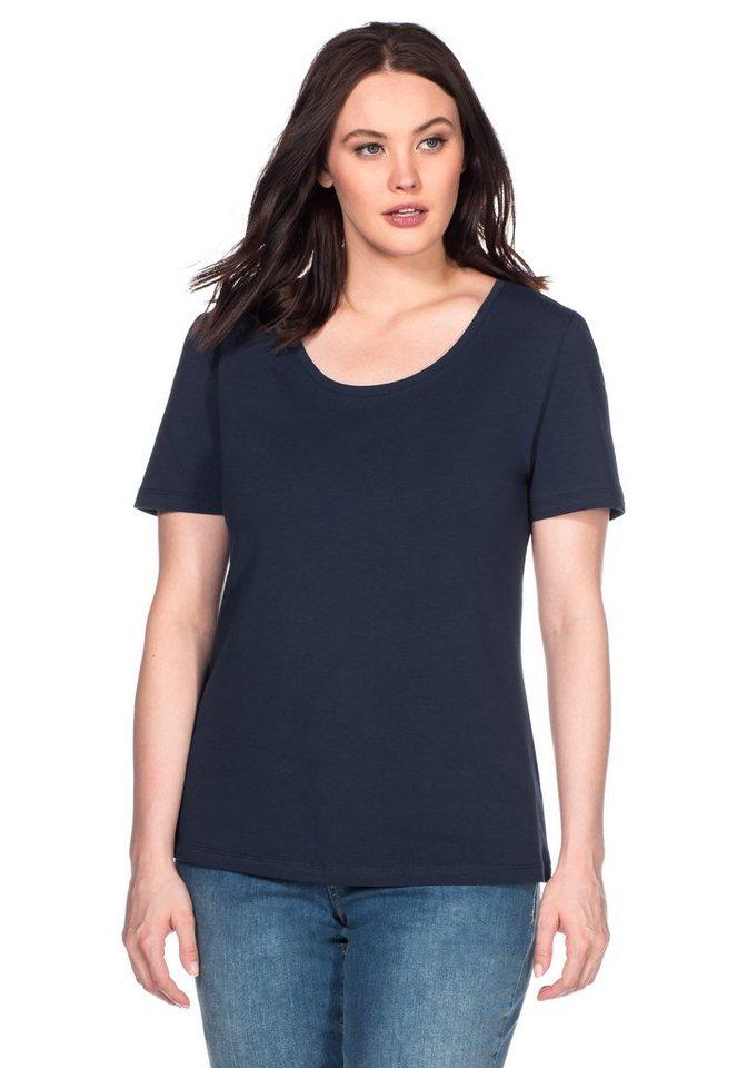 sheego Casual BASIC T-Shirt in marine