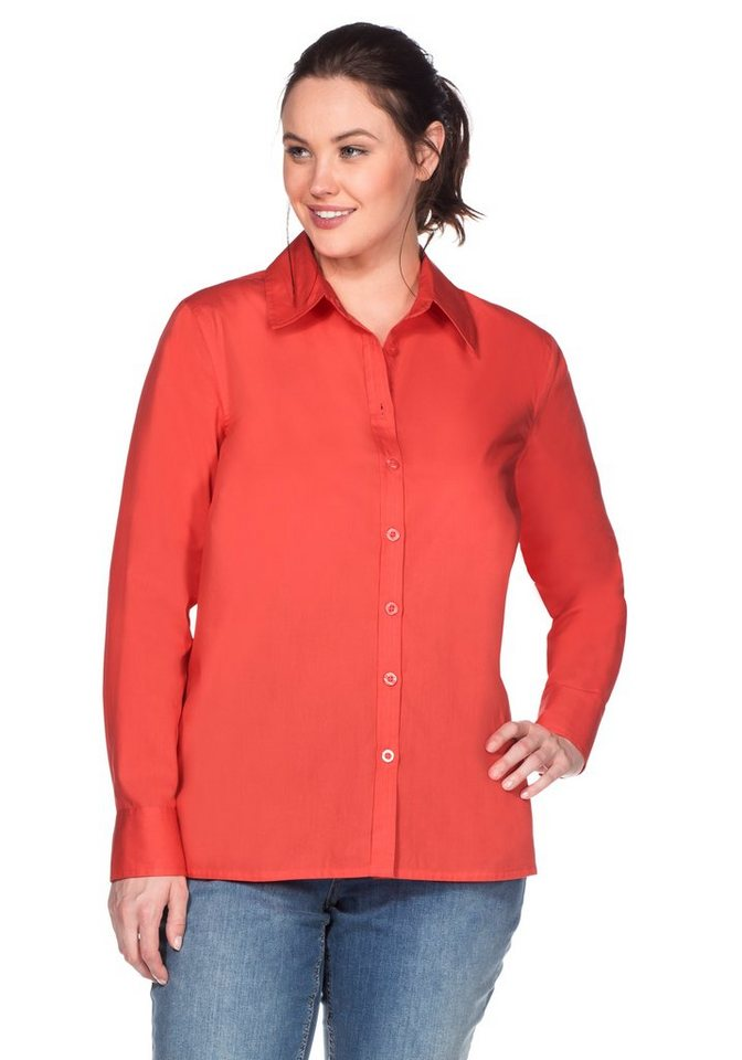 sheego Casual BASIC Bluse in korallrot