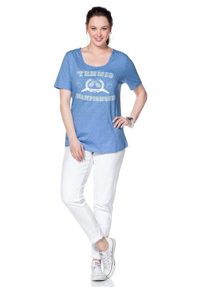 sheego Casual T-Shirt in bleu