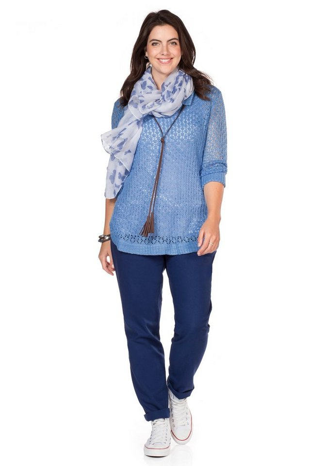 sheego Casual Pullover in bleu
