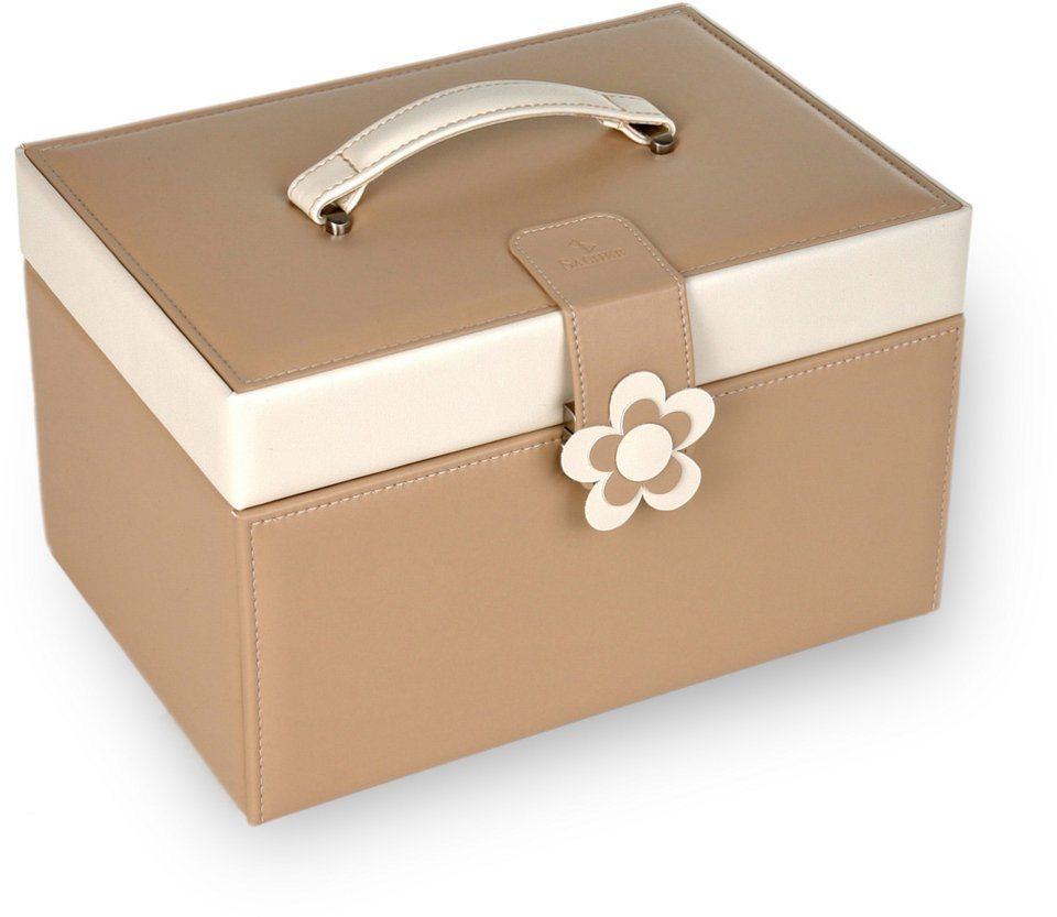 Sacher Schmuckkoffer »Jasmin/ bella fiore, 72.000.507443 oder 72.000.507343«, Lederimitat mit weicher Haptik, Made in Germany | Schmuck > Schmuckaufbewahrungen | Sacher