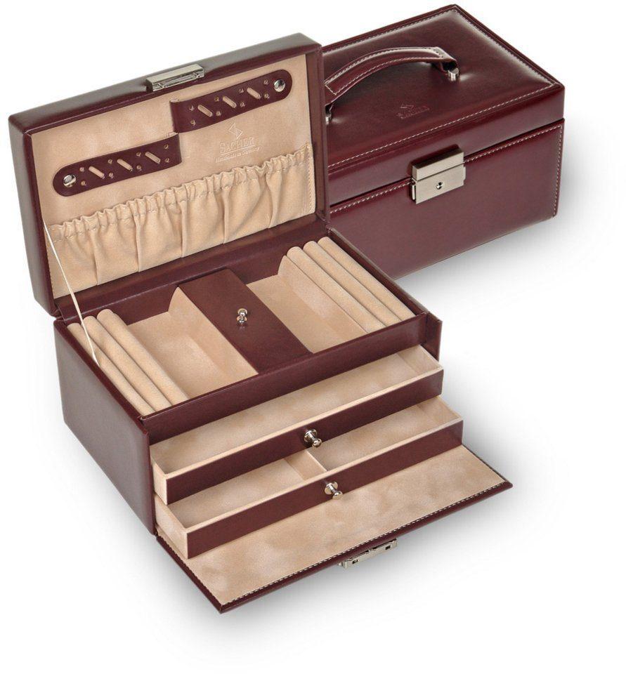 Sacher Schmuckkoffer aus weichem Leder, abschließbar