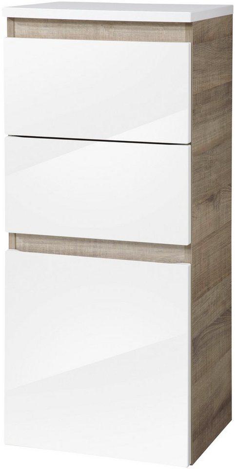 Midischrank »Piuro«, Breite 40,5 cm in eichefarben/weiß