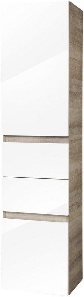 Hochschrank »Piuro«, Breite 40,5 cm in eichefarben/weiß