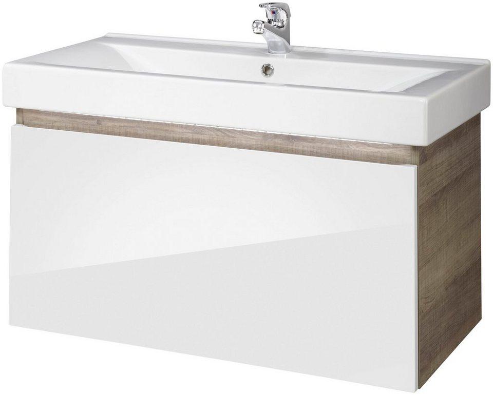 fackelmann waschtisch piuro breite 89 5 cm 2 tlg. Black Bedroom Furniture Sets. Home Design Ideas