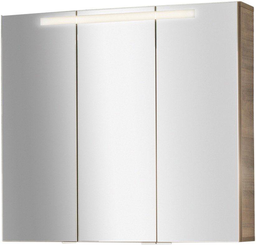 Spiegelschrank »Piuro«, Breite 79,5 cm in eichefarben