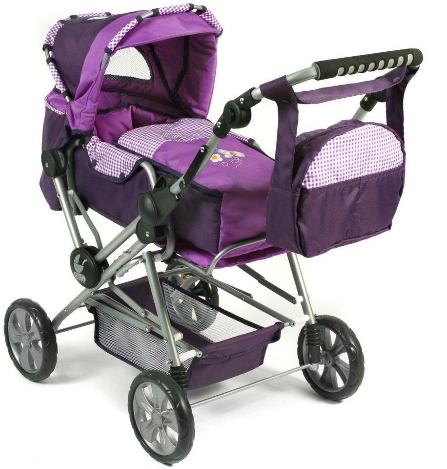 CHIC2000 Kombi Puppenwagen mit herausnehmbarer Tragetasche, »ROAD STAR Purple« in purple
