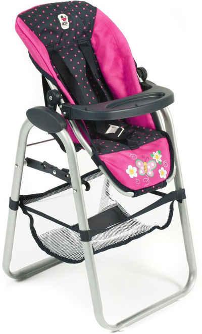 Puppen & Zubehör Puppenhochstuhl aus Holz Puppenstuhl Stuhl Hochstuhl Pink NEU! Babypuppen & Zubehör
