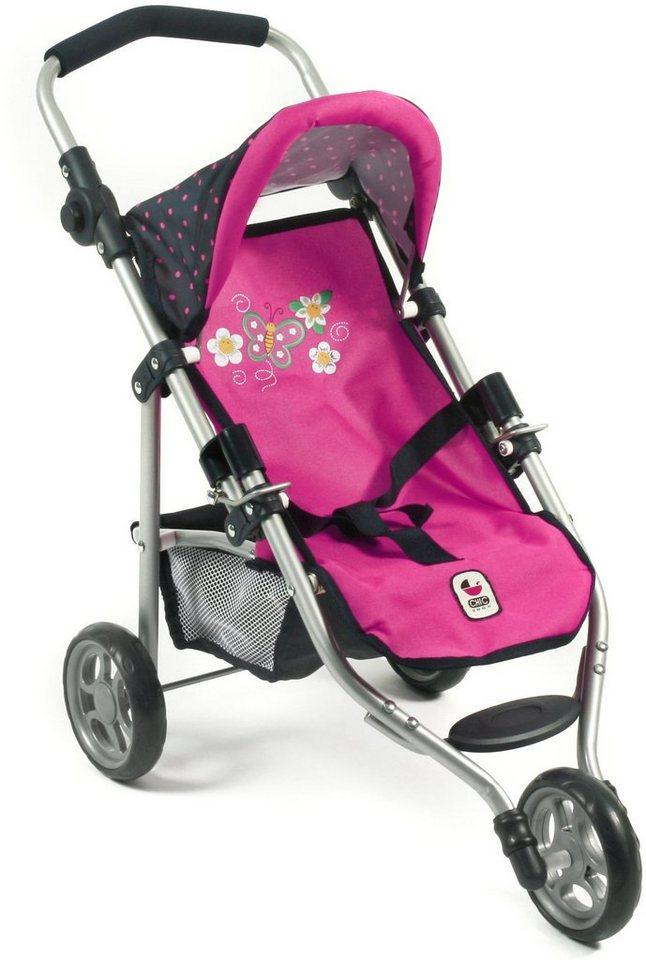 CHIC2000 Jogging Buggy mit klappbarem Verdeck, »LOLA Navy-pink« in navy-pink