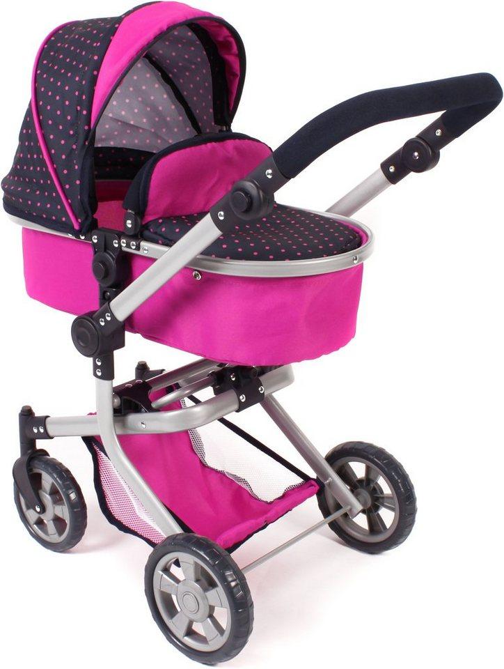 CHIC2000 Kombi Puppenwagen mit schwenkbaren Vorderrädern, »MIKA Navy-pink« in navy-pink