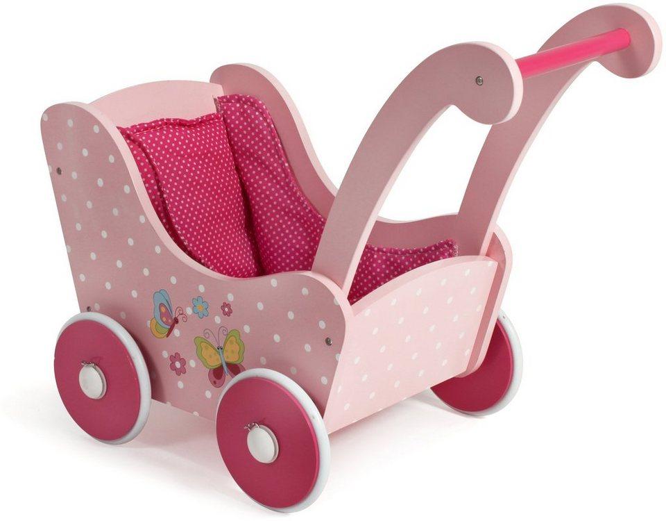 CHIC2000 Puppenwagen aus Holz, »Papilio pink« in pink