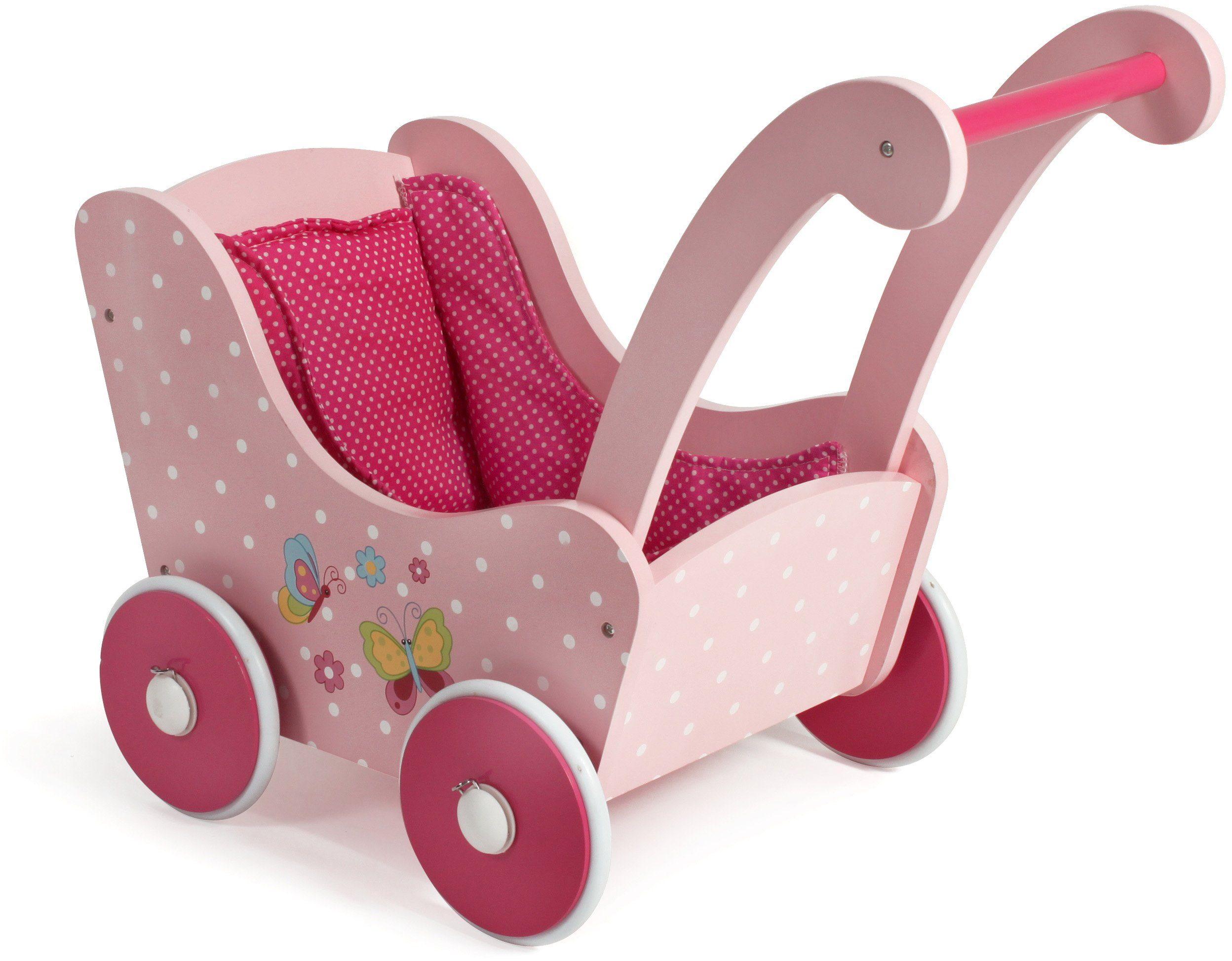 CHIC2000 Puppenwagen aus Holz, »Papilio pink«