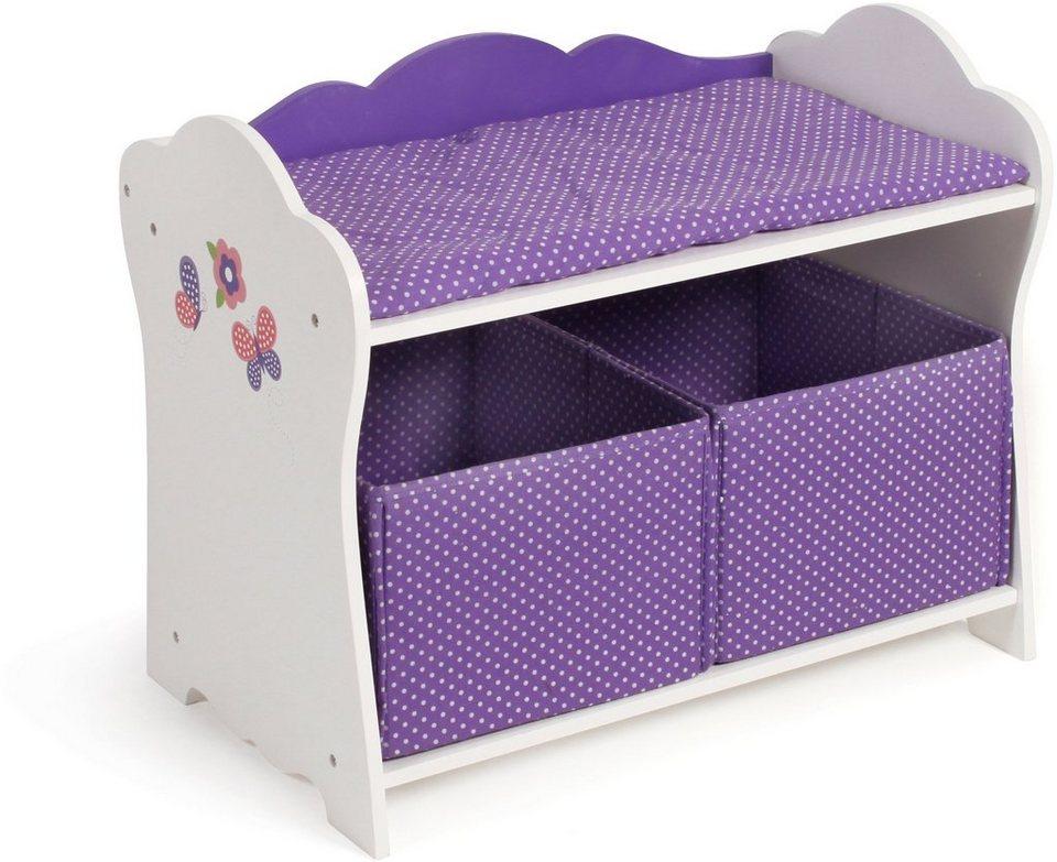 CHIC2000 Puppenwickeltisch, »Papilio purple« in purple