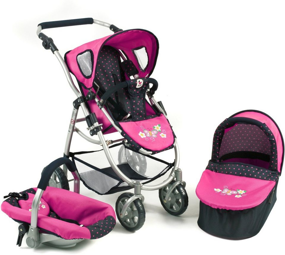 CHIC2000 3 in 1 Puppenwagen Kombi, »EMOTION ALL IN navy-pink« in navy-pink
