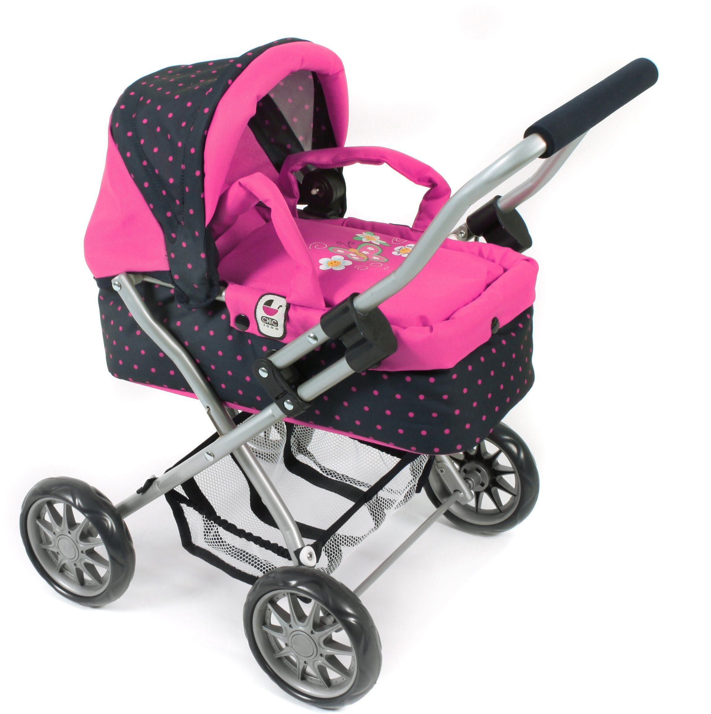 CHIC2000 Mini Puppenwagen mit herausnehmbarer Tragetasche, »Smarty navy-pink«
