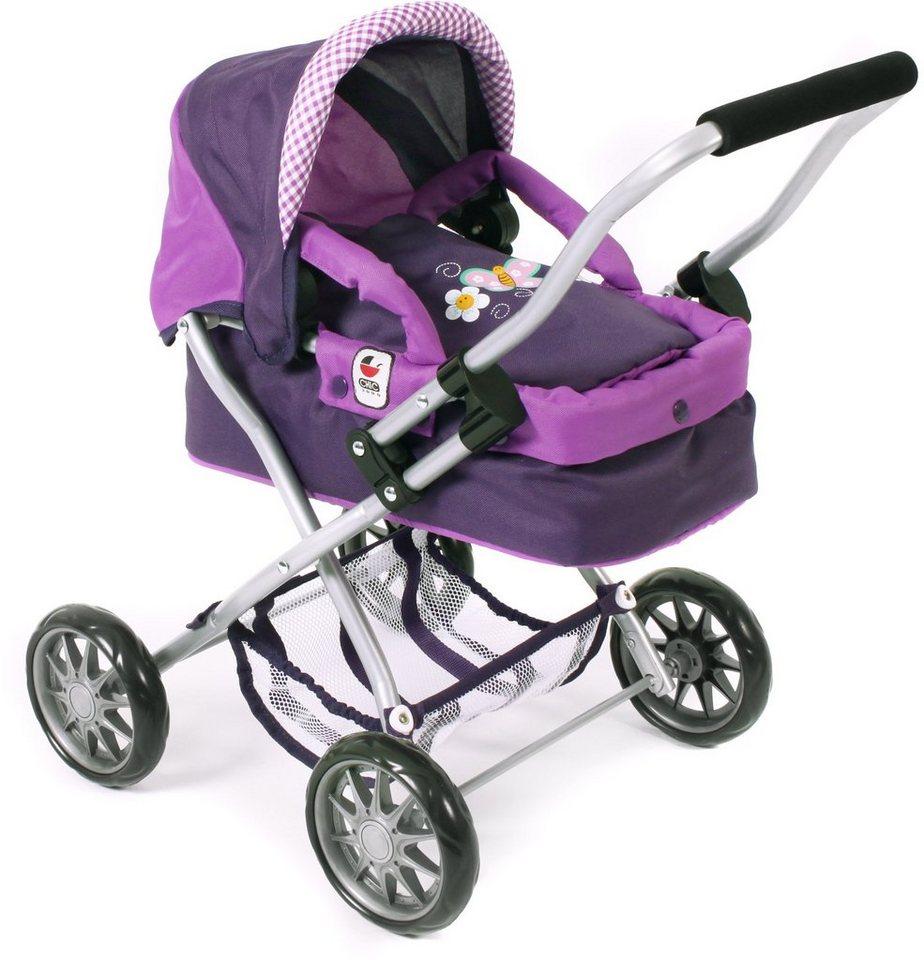 CHIC2000 Mini Puppenwagen mit herausnehmbarer Tragetasche, »Smarty purple« in purple