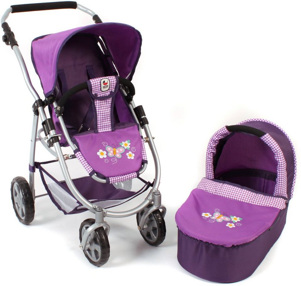 CHIC2000 2 in 1 Puppenwagen Kombi, »EMOTION Purple« in purple