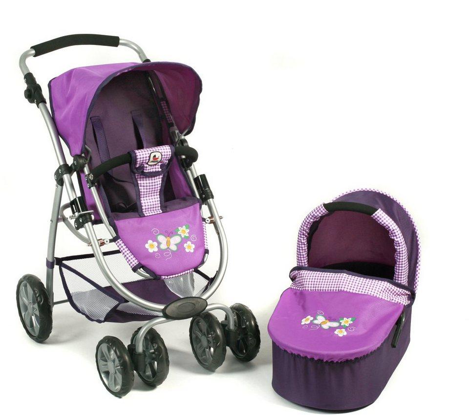 CHIC2000 Puppenwagen Kombi, »BELLINA 2 in 1 Purple« in purple