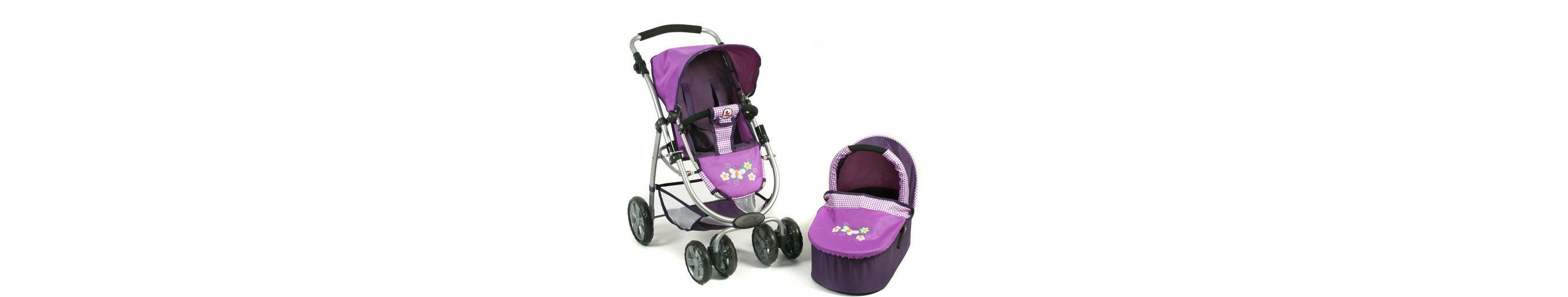 CHIC2000 Puppenwagen Kombi, »BELLINA 2 in 1 Purple«