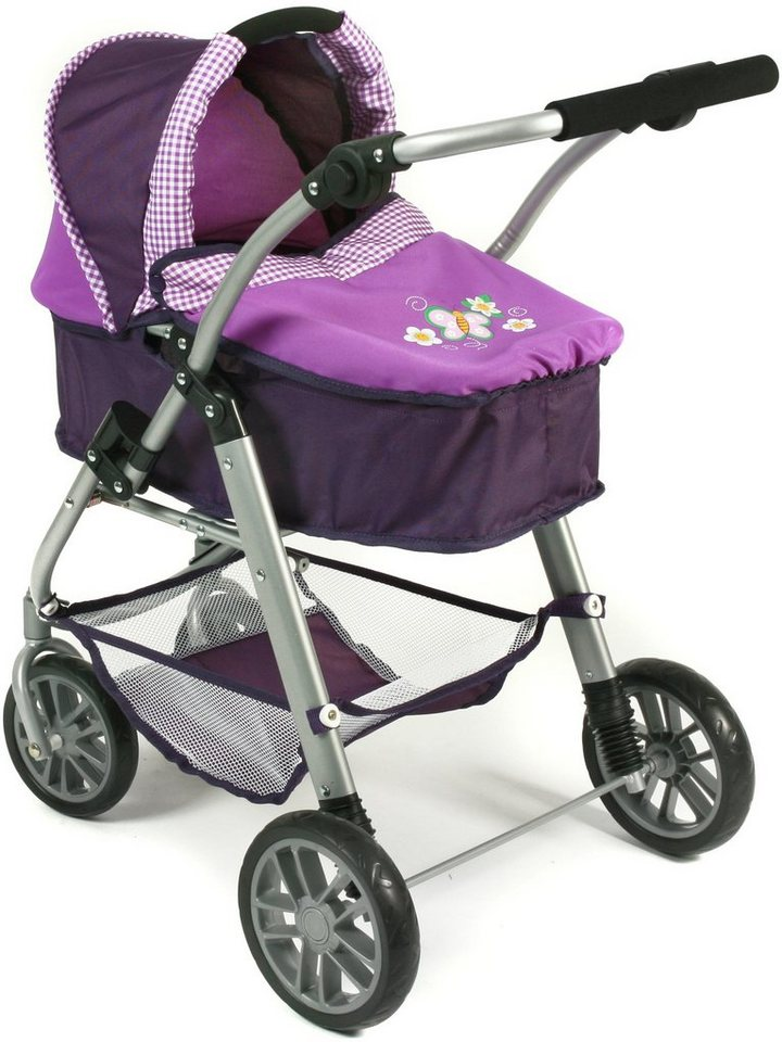 CHIC2000 Kombi Puppenwagen mit drehbarem Babywannen Aufsatz, »EMILIA Purple« in purple