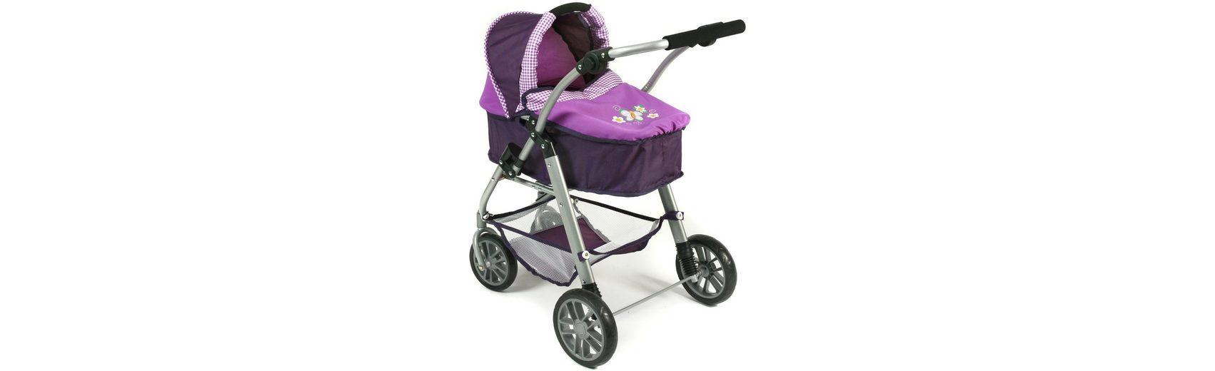 CHIC2000 Kombi Puppenwagen mit drehbarem Babywannen Aufsatz, »EMILIA Purple«