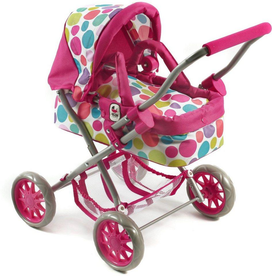 CHIC2000 Mini Puppenwagen mit herausnehmbarer Tragetasche, »Smarty pink« in pink