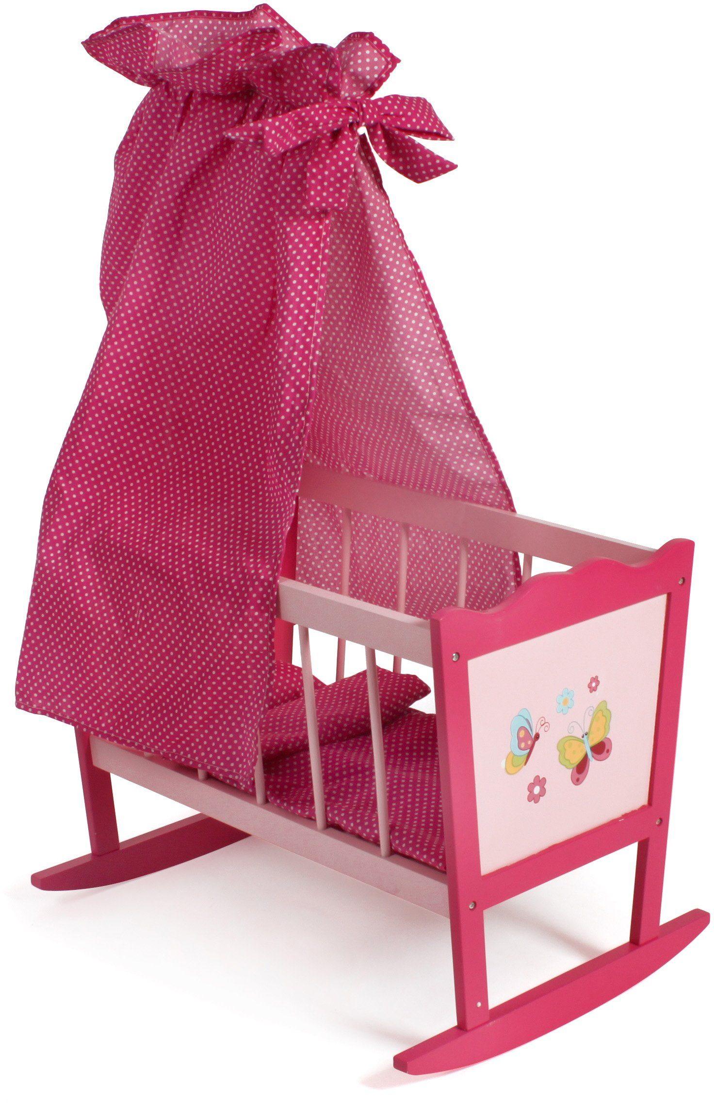CHIC2000 Puppenwiege mit Himmel, »Papilio pink«