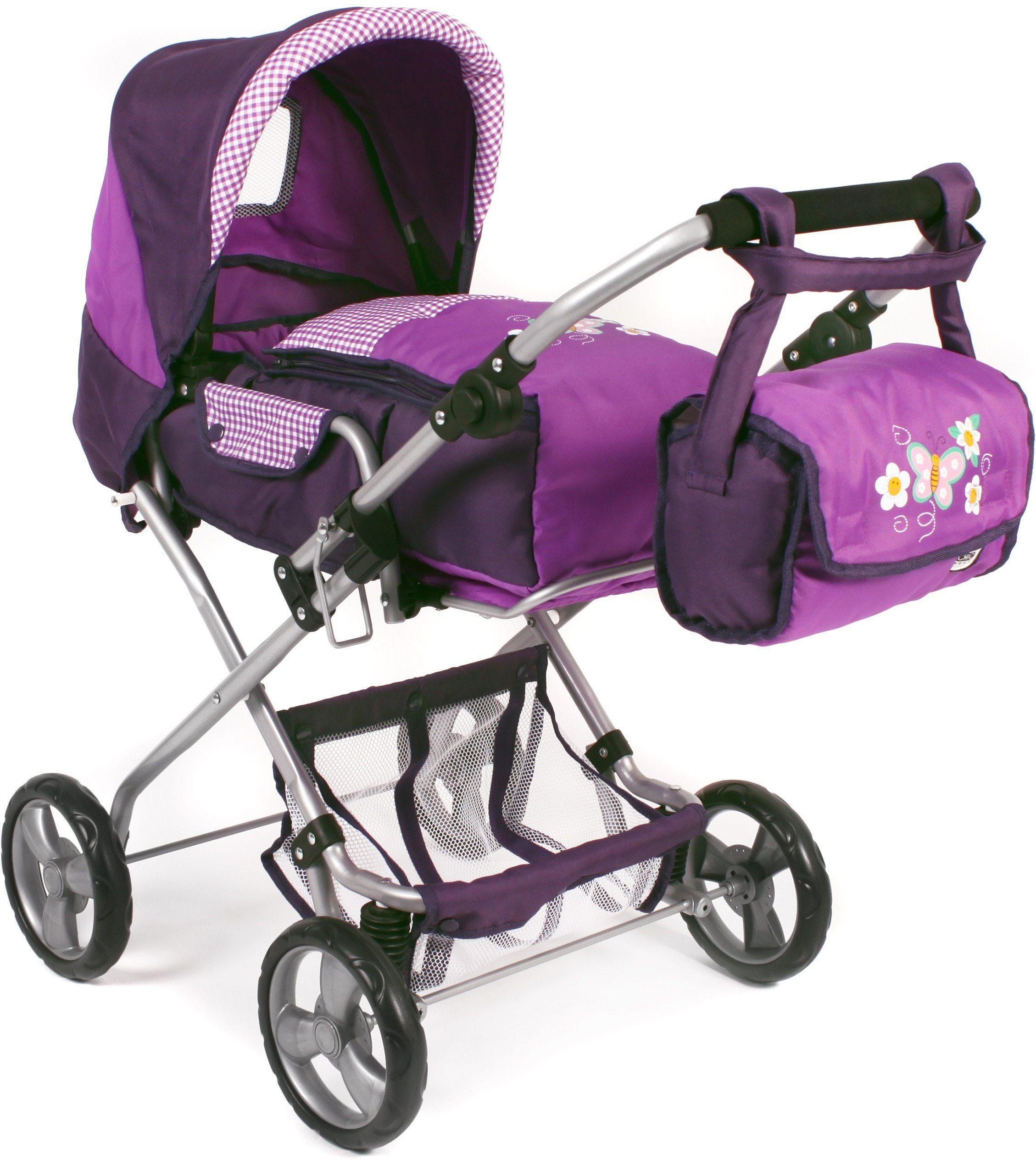 CHIC2000 Kombi Puppenwagen mit herausnehmbarer Tragetasche, »BAMBINA Purple«