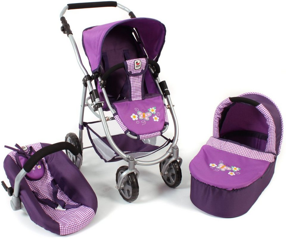 CHIC2000 3 in 1 Puppenwagen Kombi, »EMOTION ALL IN Purple« in purple