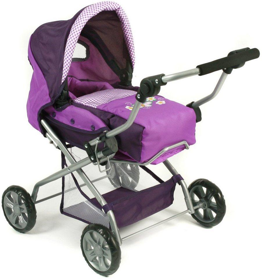 CHIC2000 Kombi Puppenwagen mit herausnehmbarer Tragetasche, »PICCOLINA Purple« in purple