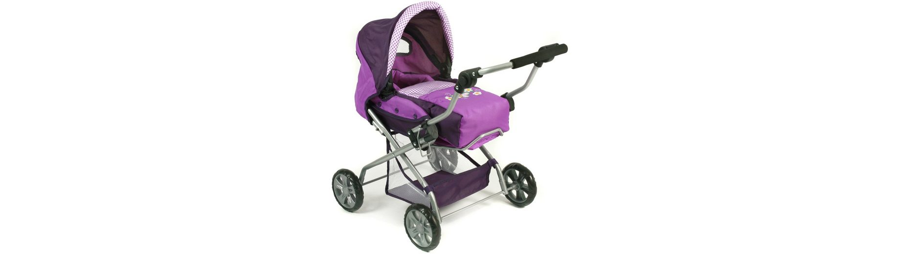 CHIC2000 Kombi Puppenwagen mit herausnehmbarer Tragetasche, »PICCOLINA Purple«