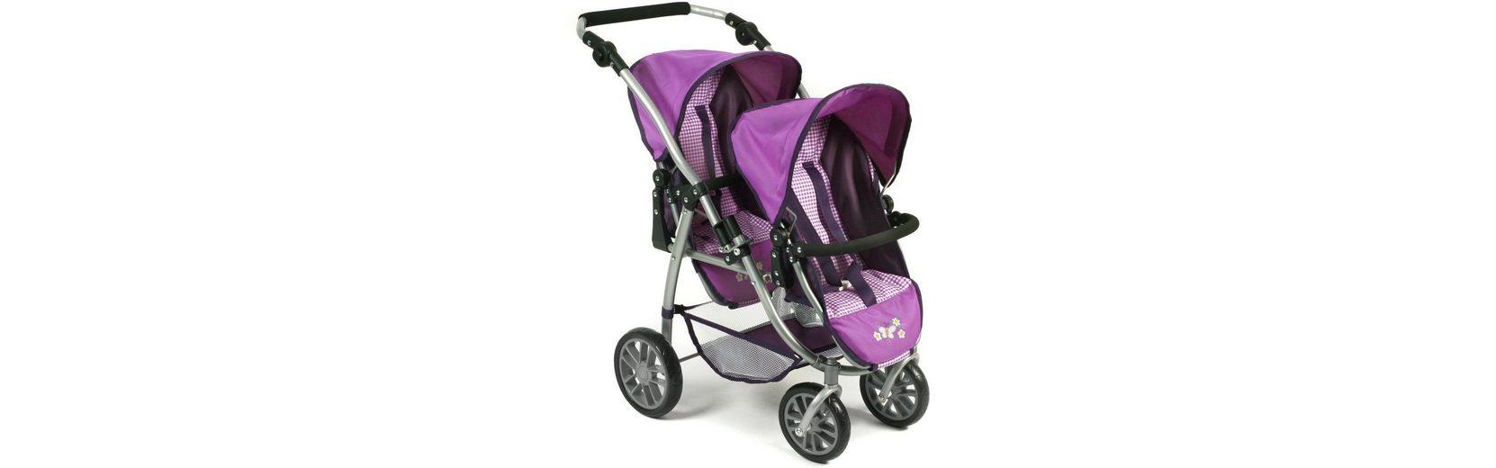 CHIC2000 Puppen Tandembuggy mit schwenkbaren Vorderrädern, »VARIO Purple«