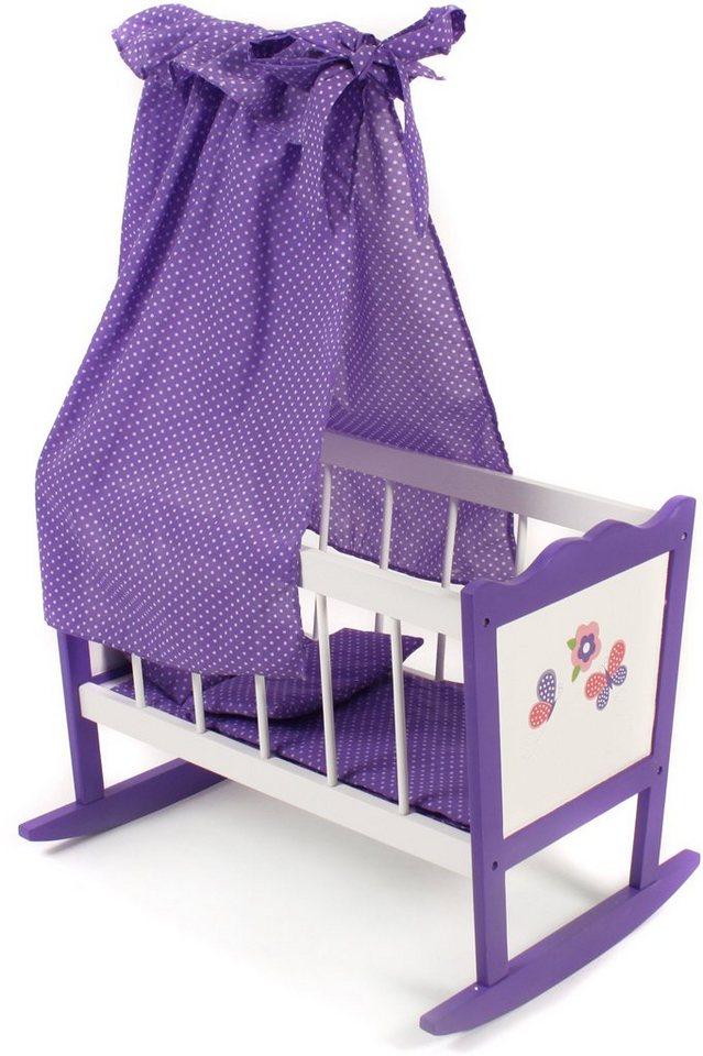 CHIC2000 Puppenwiege mit Himmel, »Papilio purple« in purple