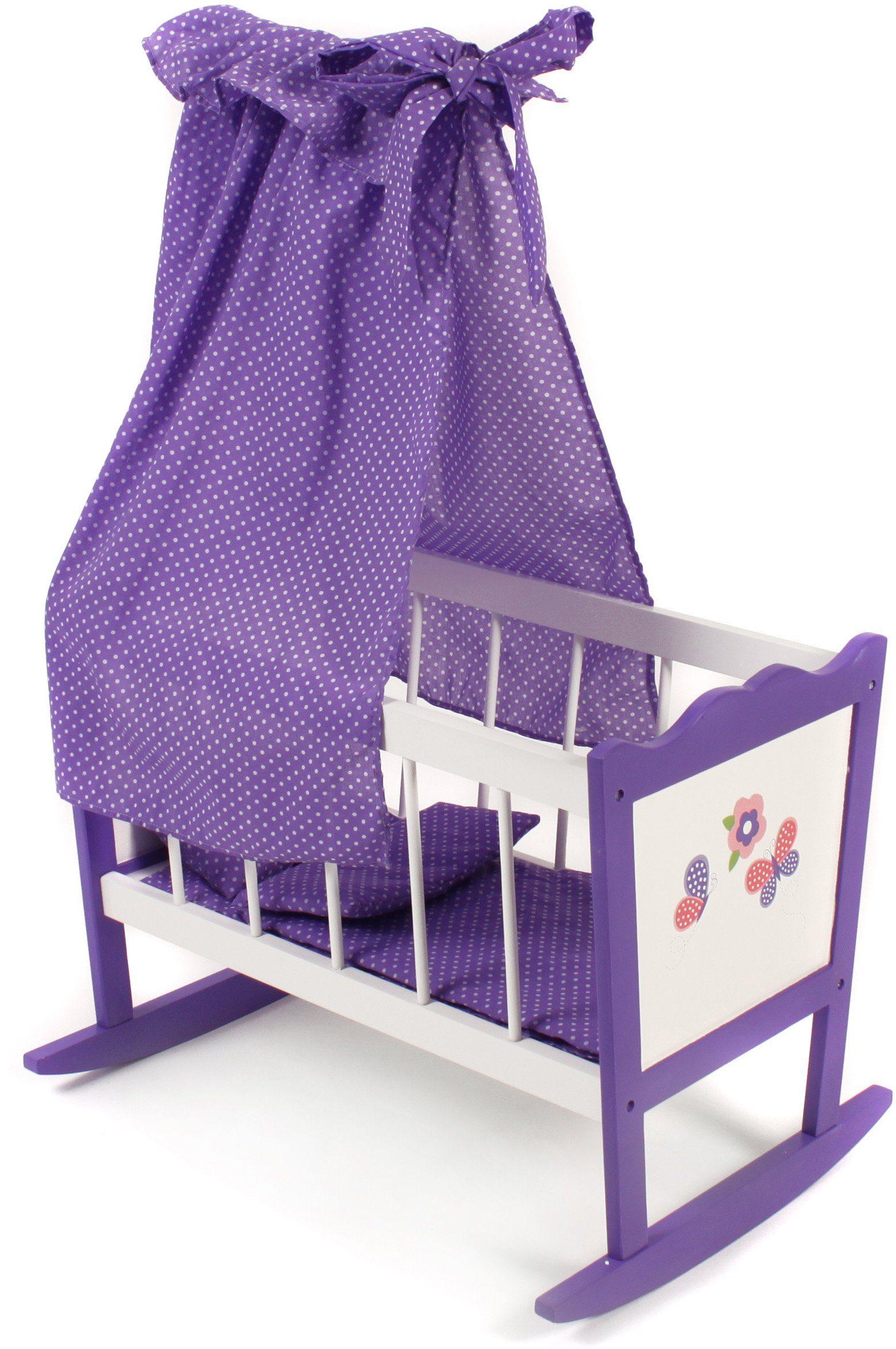 CHIC2000 Puppenwiege mit Himmel, »Papilio purple«