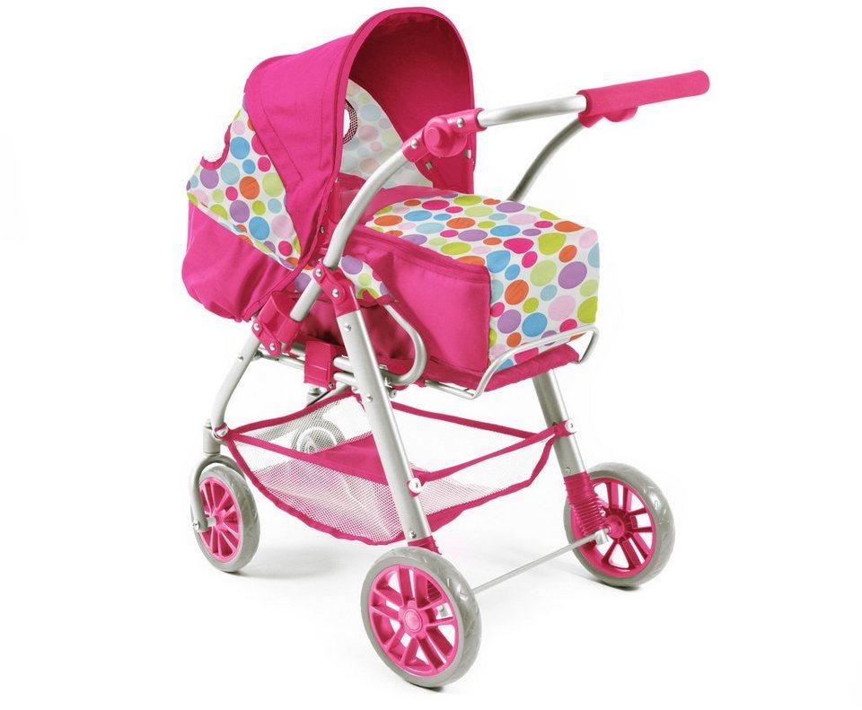 CHIC2000 Kombi Puppenwagen mit herausnehmbarer Tragetasche, »LINO pink« in pink