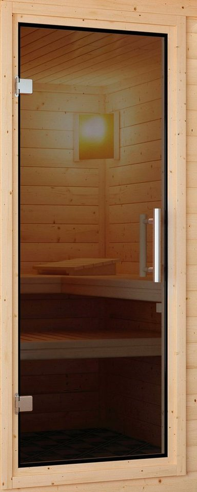 Saunatür, für 68 mm Sauna, BxH: 64x173 cm in grau