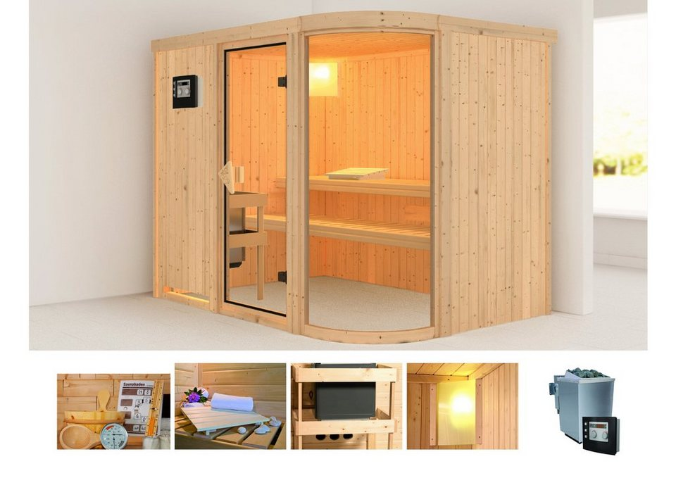 karibu systemsauna parima 4 231 170 198 cm 9 kw bio ofen mit ext steuerung online kaufen otto. Black Bedroom Furniture Sets. Home Design Ideas