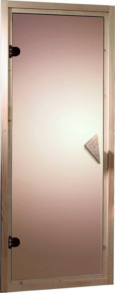 Saunatür, für 38/40 mm Sauna, BxH: 64x173 cm in goldfarben