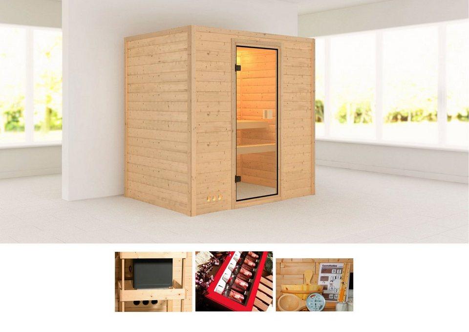 karibu massivholzsauna samira 196 144 187 cm ohne ofen online kaufen otto. Black Bedroom Furniture Sets. Home Design Ideas