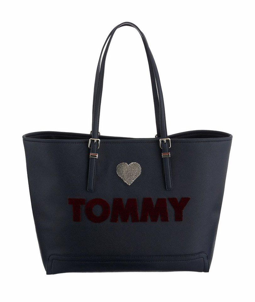 Tommy Hilfiger Shopper »Tote Bag« mit Logoschriftzug in dunkelblau