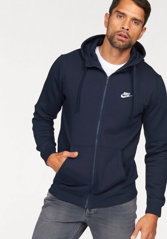 Nike Kapuzensweatjacke »NSW HOODIE FULLZIP FLEECE CLUB« in dunkelblau
